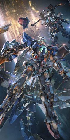 Nice anime artbook from Mobile Suit Gundam uploaded by superzeta - exia and gundam Gundam Exia, Gundam 00, Gundam Wing, Gundam Toys, Ps4 Exclusives, Gundam Wallpapers, Iphone Wallpapers, Bandai Namco Entertainment, Gundam Mobile Suit