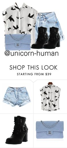 """Untitled #1718"" by unicorn-human ❤ liked on Polyvore featuring Betani and Chanel"