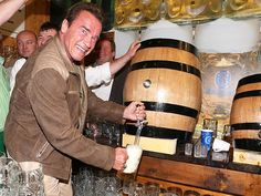The former California governor celebrated in Munich, Germany, on Wednesday – and here's what we learned Beer Memes, Star Track, Arnold Schwarzenegger, Bartender, Funny Animals, Bodybuilding, Stars, Celebrities, Classic