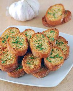 Comida Deliciosa y Rápida-Receta de Pan Y Ajo.