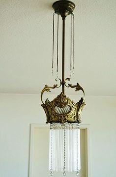 jugendstil deckenlampe alte laterne antik kronleuchter art. Black Bedroom Furniture Sets. Home Design Ideas