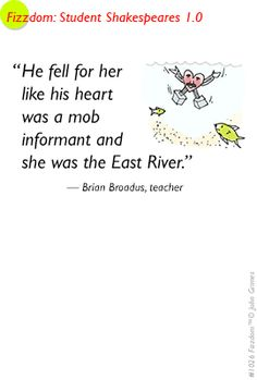 These animated quotes are winners of a Washington Post contest about funny analogies. One more at: http://www.fizzdom.com/blog/2014/3/9/wlmbqyvx1iw6hyhd88uehteyf06ycx