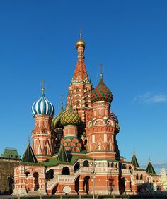 Saint Basil's Cathedral, Moscow, Russia – Located in Moscow's Red Square, this is a Russian Orthodox church built from 1555 till 1561 on orders from Ivan the Terrible. St. Basil's marks the geometric center of Moscow and is an UNESCO World Heritage Site