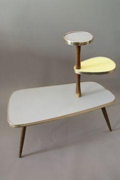 Mid Century 50´S Kidney Plant Stand°german Rockabilly Nierentisch°flower Table | eBay