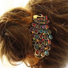 Retro Crystal Peacock Hairpin from Picsity.com