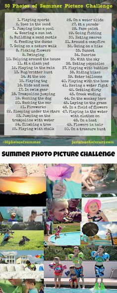 50 Photos of Summer Picture Challenge