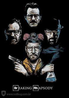 Breaking Bad Poster: 30+ High Quality Poster Collection Breaking Bad Series, Breaking Bad Art, Breaking Bad Poster, Most Watched Tv Shows, Best Tv Shows, Series Movies, Tv Series, Caricature, History Instagram