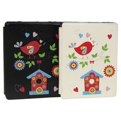 Add some fun and protect your Ipad as well with this lovely bird Ipad wallet/case.  Made from PU leather