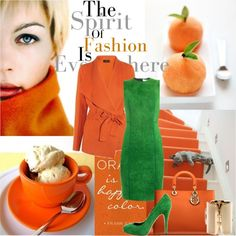 """Seductive Orange...."" by ornellav ❤ liked on Polyvore"