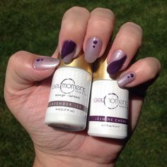 Lavender ice and jasmine cherry nails with GelMoment Safe Nail Polish, Gel Polish Colors, Nail Colors, Colours, Liquid Nails, Gel Nails, Manicure, Cherry Nails, Nail Biting