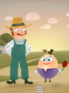 Humpty Dumpty and Farmer Joe. #Humpty #Dumpty #PonyApps  #Fairytale  https://play.google.com/store/apps/details?id=com.ponyapps.humptybook