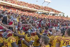 Here's a look at all of the fans who stayed after to celebrate the 37-30 win vs Toledo with the team #LoyalForeverTrue