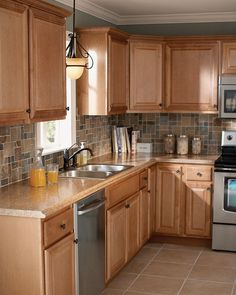 Taupe Kitchen Cabinets Love The Dark Stain Color On The Islanduse - Cheap kitchen cabinets home depot