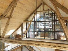 Rénovation d'une longère, photo Antonio Duarte bibliothèque #bois #architecture