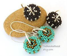 Earrings  Black Silver and Turquoise Changeable by TheBeadedBead, $38.00