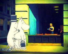 Mumins + Hopper = Cumpleaños feliz