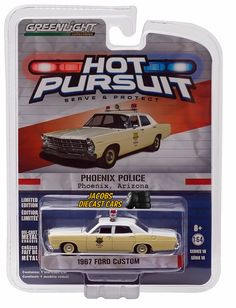 1:64 GREENLIGHT HOT PURSUIT SERIES 18 - 1967 FORD CUSTOM  - PHOENIX POLICE  #GreenLight #Ford
