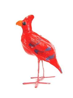 Cardinal Seedpod Bird