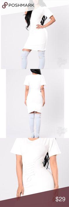 White tunic dress Tied up white tunic. Fashion Nova Dresses Midi