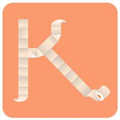 Letter K from type experiments by Leonor Graça Moura