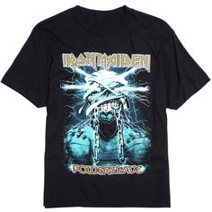 Hot Topic Iron Maiden Powerslave Mummy Eddie T-Shirt (140 SEK) ❤ liked on Polyvore featuring men's fashion, men's clothing, men's shirts, men's t-shirts and mens heavy flannel shirts