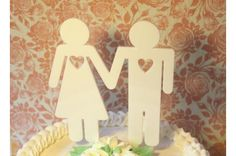 Cake topper for a wedding cake