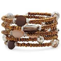 Taupe Seed Bead Coil Bracelet - jcpenney