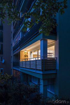 Rekonštrukcia bytu s modrými