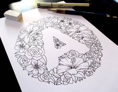 Floral Letters With Negative Space Inspiration Logo Design, Typography Inspiration, Creative Lettering, Lettering Design, Flower Logo, Flower Art, Flower Sketches, Drawing Flowers, Floral Letters