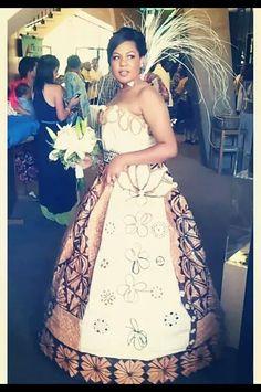Fiji tapa cloth wedding dress love it