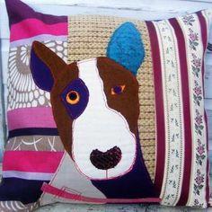 Bull Terrier cushion