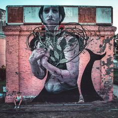 "tschelovek_graffiti: ""@bosoletti нарисовал ""La Sirena Abandonada"" в Санта-Фе…"