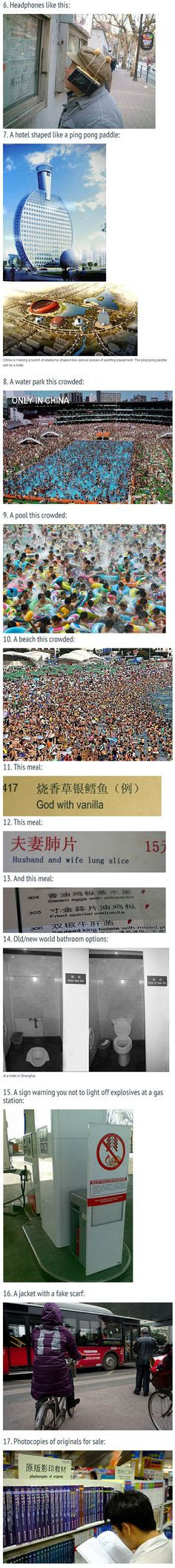 Weird Things You'll Only See In China