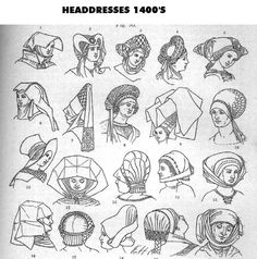 THE HANDBOOK OF GERMAN DRESS- Hair & Headdress 1200s-1400s