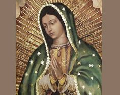 Our Lady of Guadalupe Virgin Mary Religious Art Prints that GLOW (Half Body Image) I Love You Mother, Mother Mary, Tattoo Virgen, Body Image Art, Images Of Mary, Holy Mary, Blessed Virgin Mary, Blessed Mother, Religious Art