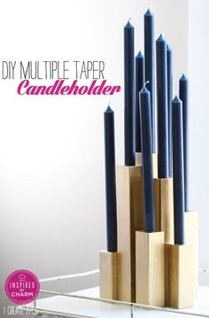 Multiple Tape Candle Holder | Inspired by Charm #31daysofhome #DIY