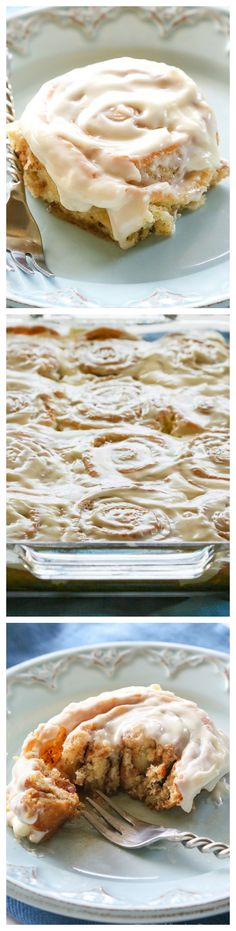 Soft Cinnamon Rolls - no-fail cinnamon rolls that are so soft and covered with cream cheese frosting. the-girl-who-ate-...