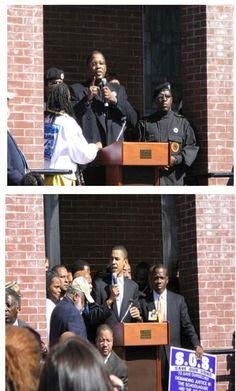 Barrack speaking at a black Panther meeting _ THIS would be like a white politician speaking at a klan meeting!