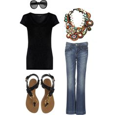 Love the necklace - weekend, created by kolelog.polyvore.com