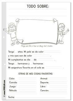 // Worksheet- want to use this as a data collection for graphing assignment! Make into a class book with graphs for illustrations. // Worksheet- want to use this as a data collection for graphing assignment! Make into a class book with grap Elementary Spanish, Spanish Classroom, Teaching Spanish, Teaching English, Education English, English Class, Learn English, Spanish Lessons, English Lessons