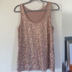 """Spotted while shopping on Poshmark: """"❗️ FINAL PRICE ❗️ J. Crew gold sequined top""""! #poshmark #fashion #shopping #style #J. Crew #Tops"""