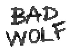 Bad Wolf cross stitch pattern science fiction by pickleladyfarm, $4.00
