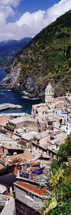 Cinque Terra Town Of Vernazza Canvas Print / Canvas Art by Jeremy Woodhouse