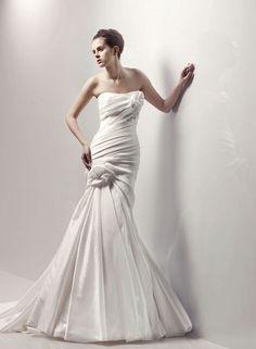219.00$  Buy here - http://vietu.justgood.pw/vig/item.php?t=qrs7sjg53103 - New Taffeta Mermaid Wedding dress High-end Wedding dress Strapless Wedding dress 219.00$
