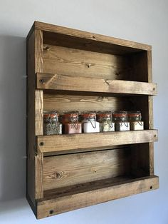 How To Make A Simple Wooden Spice Rack