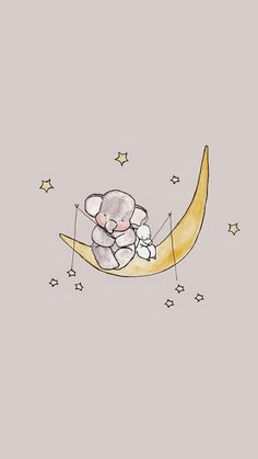This would be so cute in a baby room - Tiertapete iphone Cute Disney Wallpaper, Cute Cartoon Wallpapers, Cute Wallpaper Backgrounds, Wallpaper Iphone Cute, Colorful Wallpaper, Mobile Wallpaper, Black Wallpaper, Iphone Wallpapers, Wallpaper Quotes