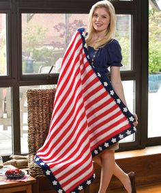 Whether you use this throw in a living room, on a picnic, or ship it off to someone serving overseas, it's the perfect expression of patriotism. It's easy to crochet and a wonderful gift!