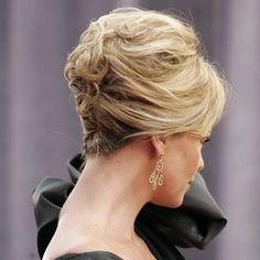 Another updo for short hair #charlizetheron #shorthair perhaps mother of the bride?