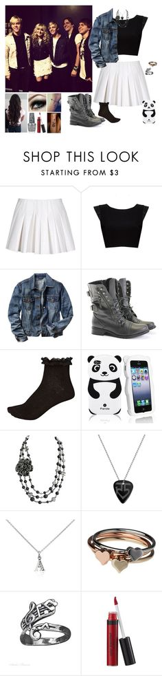 """""""If I Was In R5 #160"""" by mysterygirl1999 ❤ liked on Polyvore featuring Alexander Wang, Alice + Olivia, Gap, Rocio, River Island, Chanel, Blue Nile, mel, Barbed and OPI"""