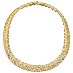 Estate Betteridge Collection Jose Hess 14k Gold & Diamond Choker Necklace $12,000 .. Apr 2013
